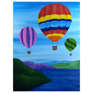 Hot Air Balloon Pre-drawn canvas