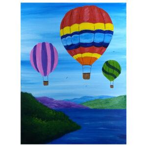 Hot Air Balloon Pre-drawn canvas