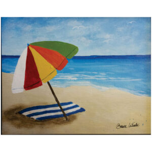 Beach Umbrella Pre-drawn Canvas