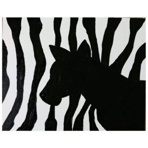 Zebra Pre-drawn Canvas
