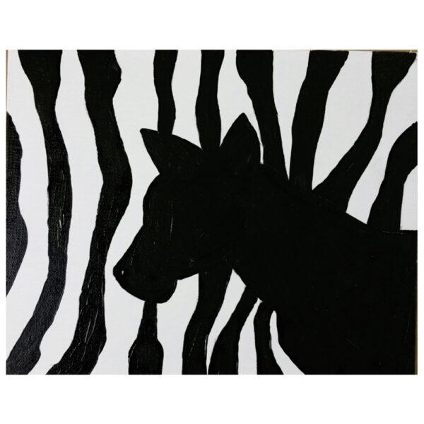 Zebra Pre-drawn Canvas