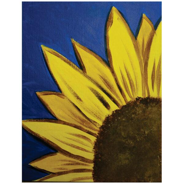 Sunflower Pre-drawn Canvas