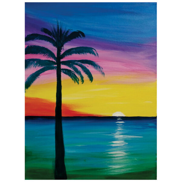 Palm Tree Pre-drawn Canvas