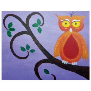 Owl Pre-drawn Canvas