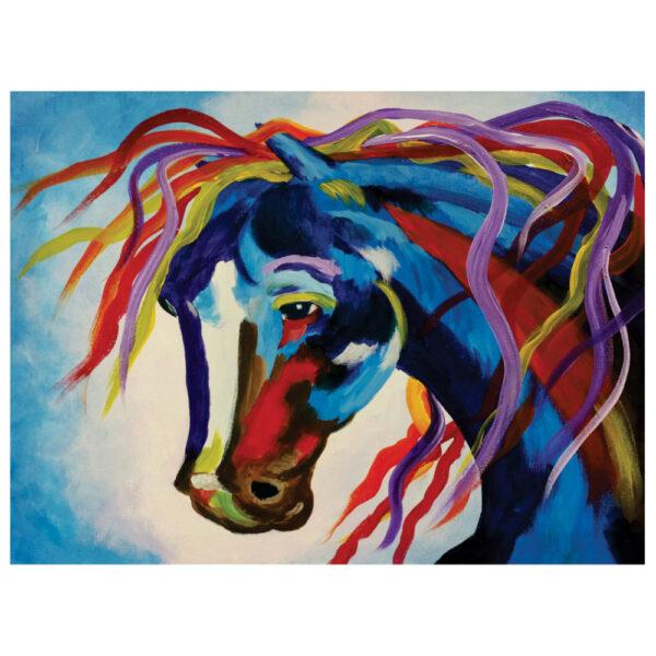 Crazy Horse Pre-drawn Canvas