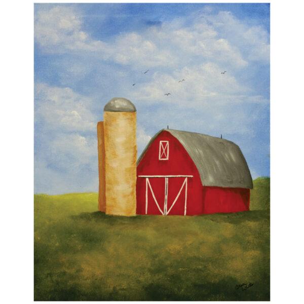 Barn Pre-drawn Canvas