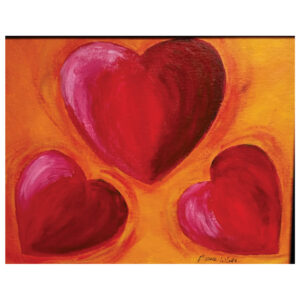 Hearts Pre-drawn Canvas