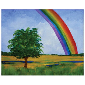 Rainbow Pre-drawn Canvas