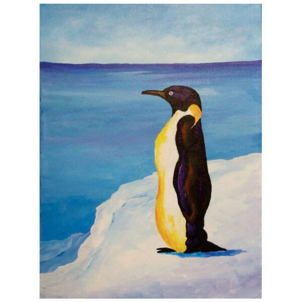 Penguin Pre-drawn Canvas