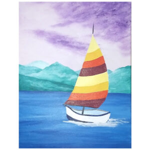 Sailboat Pre-drawn Canvas
