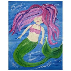Mermaid Pre-drawn Canvas