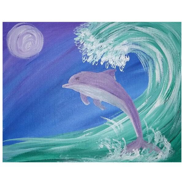 Dolphin Pre-drawn Canvas