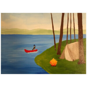 Canoe Pre-drawn Canvas