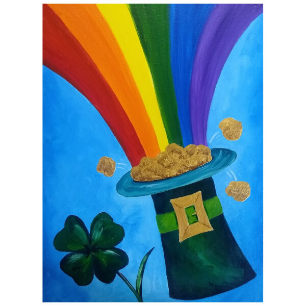 Pot of Gold Pre-drawn Canvas