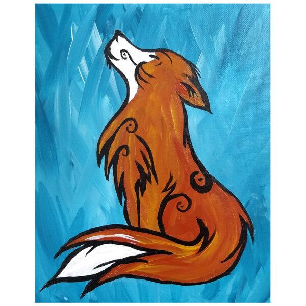 Wolf Pre-drawn Canvas