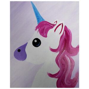 Unicorn Pre-drawn Canvas