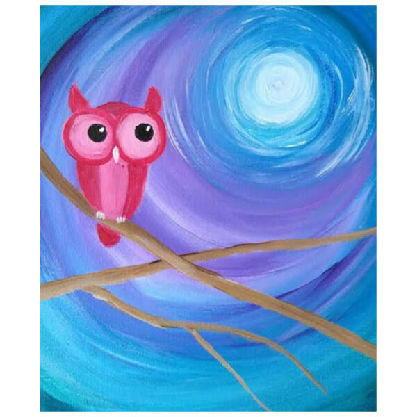 Owl in the Moonlight Pre-drawn Canvas