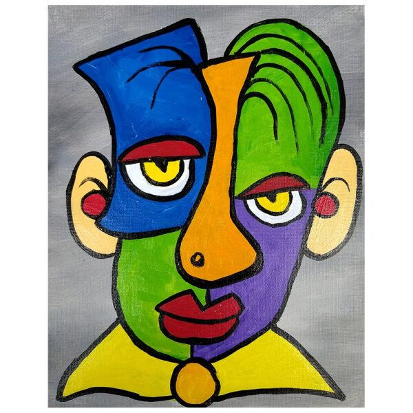 Puzzle Face Pre-drawn Ornament