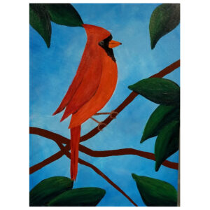 Cardinal Pre-drawn Canvas