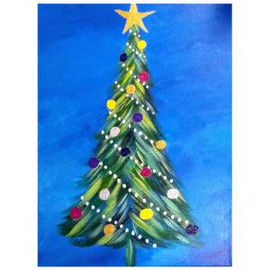 Christmas Tree Pre-drawn Canvas
