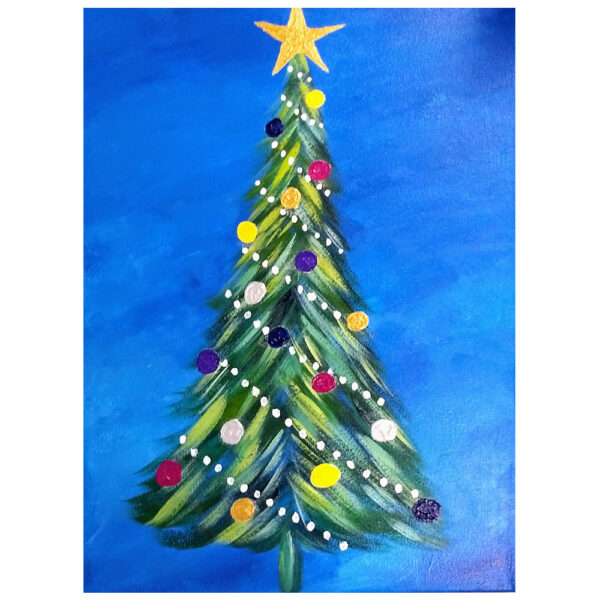 Christmas Tree Pre-drawn Canvas