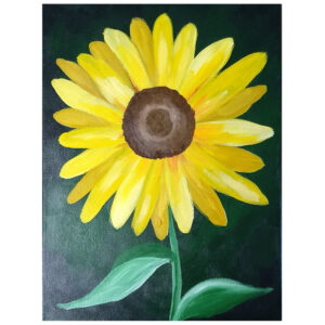 Sunflower Pre-drawn Canvas