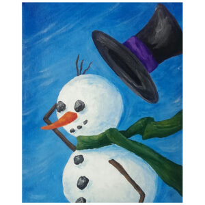 Snowman Pre-drawn Canvas