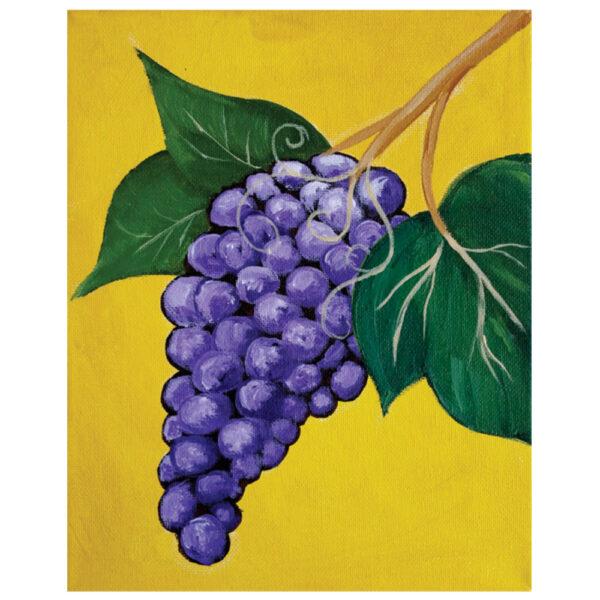 Grapes Pre-drawn Canvas