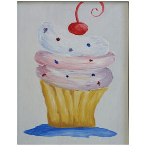 Cupcake Pre-drawn Canvas