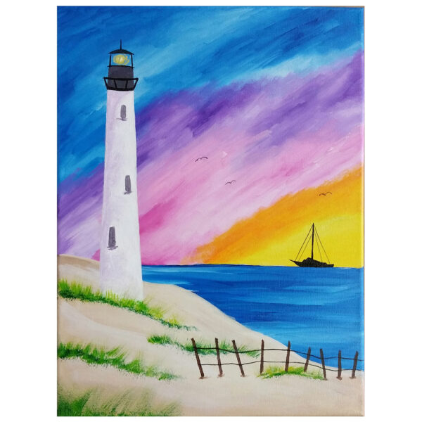 Lighthouse Pre-drawn Canvas