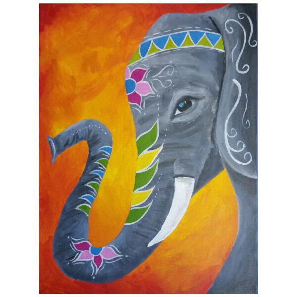 Elephant Pre-drawn Canvas