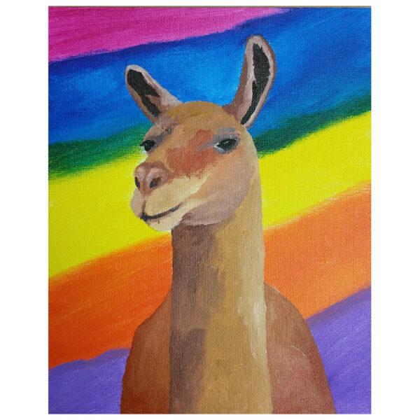 Brown Llama Pre-drawn Canvas