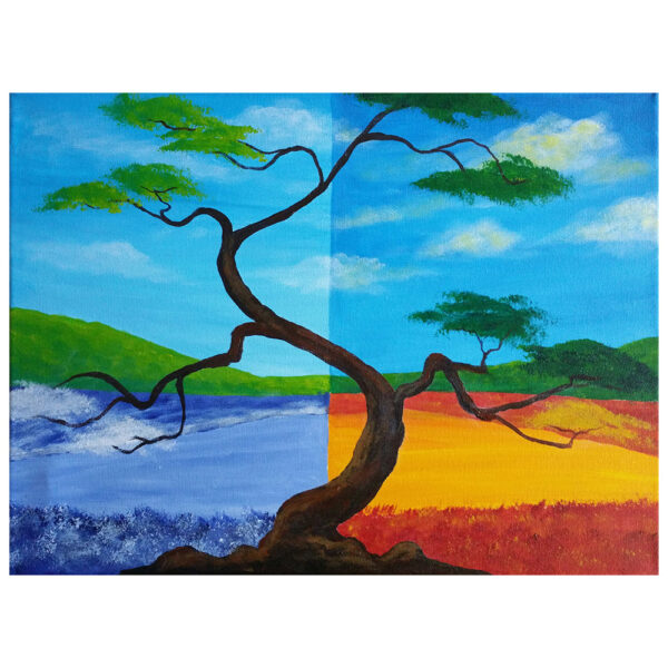Bonsai Tree Pre-drawn Canvas