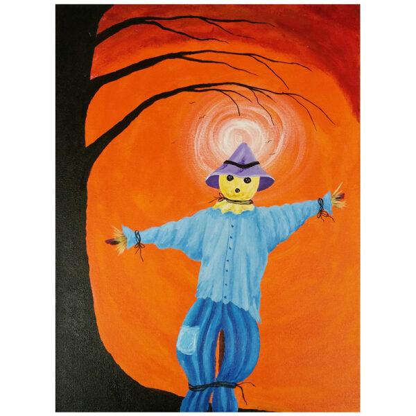 Scarecrow and Sun Pre-drawn Canvas