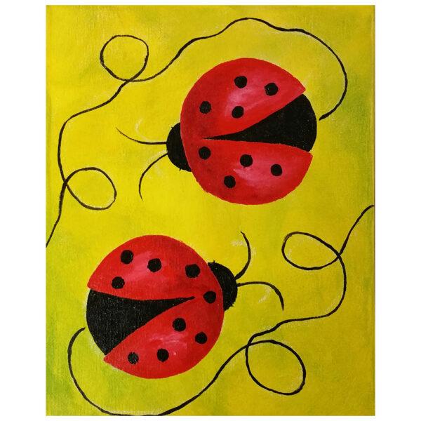 Ladybugs Pre-drawn Canvas