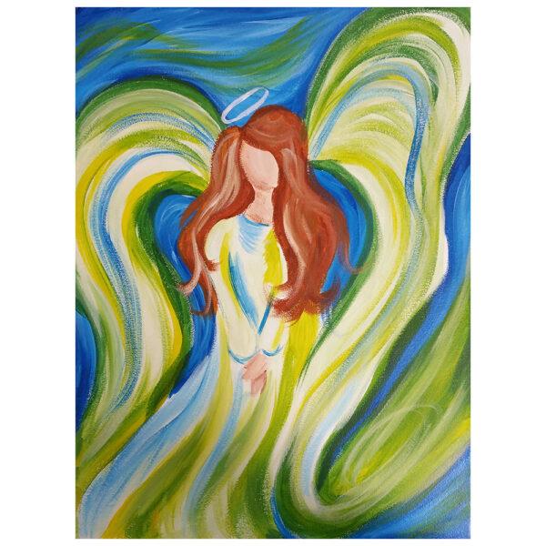 Angel Pre-drawn Canvas