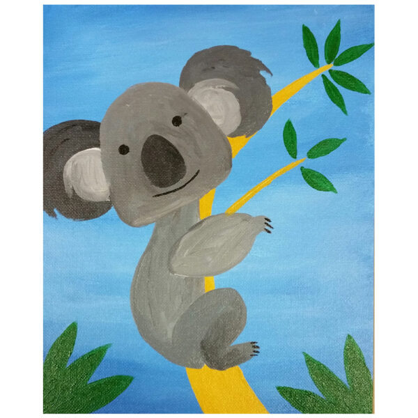 Koala Bear Pre-drawn Canvas