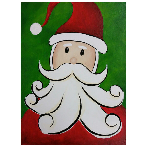 Santa Claus Pre-drawn Canvas