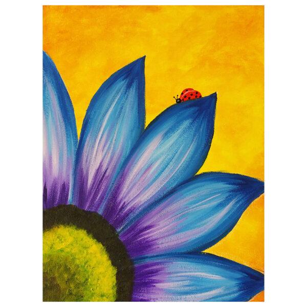 Blue Flower Pre-drawn Canvas