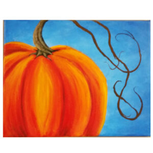 Large Pumpkin Pre-drawn Canvas