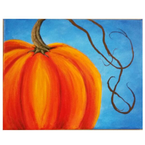 Large Pumpkin Pre-drawn Canvas