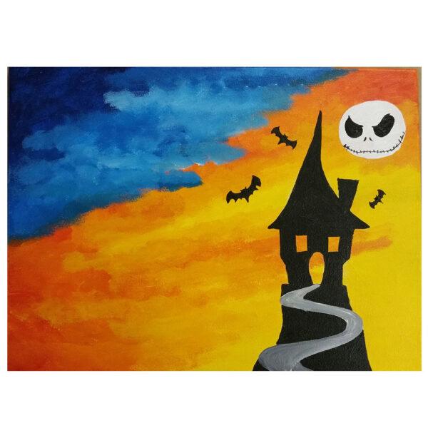 Spooky House Pre-drawn Canvas