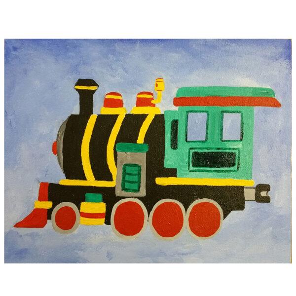 Train Pre-drawn Canvas