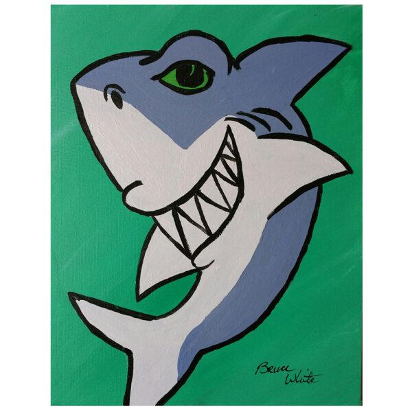 Shark Pre-drawn Canvas