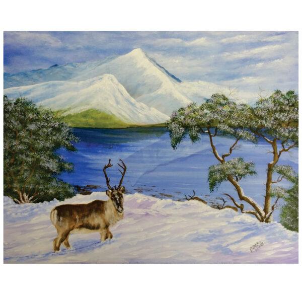 """Reindeer 16"""" x 20"""""""