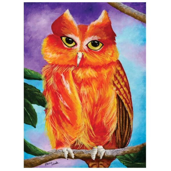"""Orange Owl 12"""" x 16"""""""