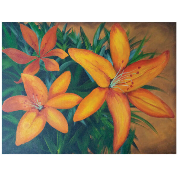 "Orange Lilies 12"" x 16"""