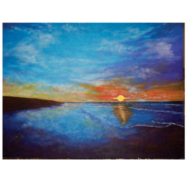 """Ocean Sunset 16"""" x 20"""""""