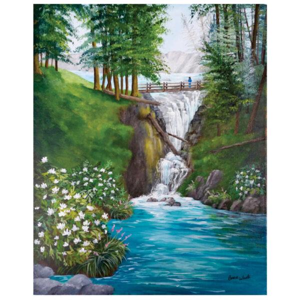 """Mountain Waterfall 16"""" x 20"""""""