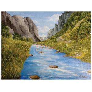 "Mountain River 12"" x 16"""